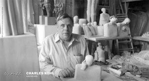 Charles Kohl in his studio ca 1986